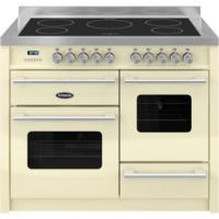 Britannia RC-11XGI-DE-CR Delphi XG 110cm Electric Range Cooker With Induction Hob - Gloss Cream