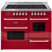 Britannia RC-11XGI-DE-RED Delphi XG 110cm Electric Range Cooker With Induction Hob - Gloss Red