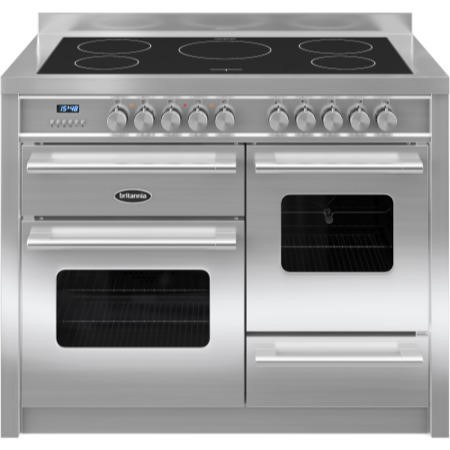 Britannia RC-11XGI-DE-S Delphi XG 110cm Electric Range Cooker With Induction Hob - Stainless Steel
