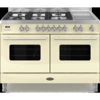 Britannia RC-12TG-DE-CR Delphi Twin Oven 120cm Dual Fuel Range Cooker - Gloss Cream