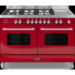Britannia Display Delphi Twin Oven 120cm Dual Fuel Range Cooker - Gloss Red