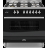 Britannia RC-9SG-DE-K Delphi Single Oven 90cm Dual Fuel Range Cooker - Gloss Black