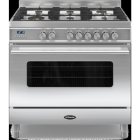 Britannia RC-9SG-DE-S Delphi Single Oven 90cm Dual Fuel Range Cooker - Stainless Steel