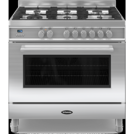Britannia RC-9SG-QL-S Q Line Single Oven 90cm Dual Fuel Range Cooker - Stainless Steel