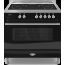 Britannia RC-9SI-DE-K Delphi Single Oven 90cm Electric Range Cooker With Induction Hob - Gloss Black
