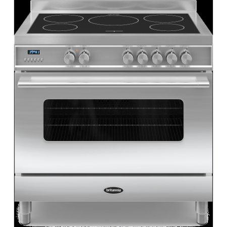 Britannia RC-9SI-DE-S Delphi Single Oven 90cm Electric Range Cooker With Induction Hob - Stainless Steel
