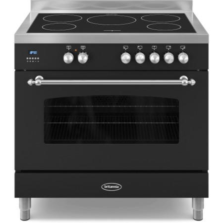 Britannia RC-9SI-FL-K Fleet Single Oven 90cm Electric Range Cooker With Induction Hob - Matt Black