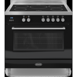 Britannia RC-9SI-QL-K Q Line Single Oven 90cm Electric Range Cooker With Induction Hob - Gloss Black