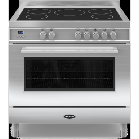Britannia RC-9SI-QL-S Q Line Single Oven 90cm Electric Range Cooker With Induction Hob - Stainless Steel