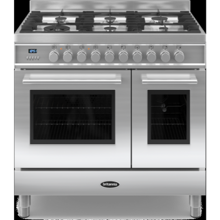 Britannia RC-9TG-QL-S Q Line Twin Oven 90cm Dual Fuel Range Cooker - Stainless Steel