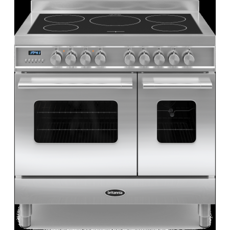 Britannia RC-9TI-DE-S Delphi Twin Oven 90cm Electric Range Cooker With Induction Hob - Stainless Steel