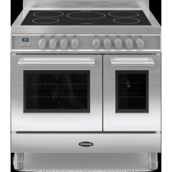 Britannia RC-9TI-QL-S Q Line Twin Oven 90cm Electric Range Cooker With Induction Hob - Stainless Steel