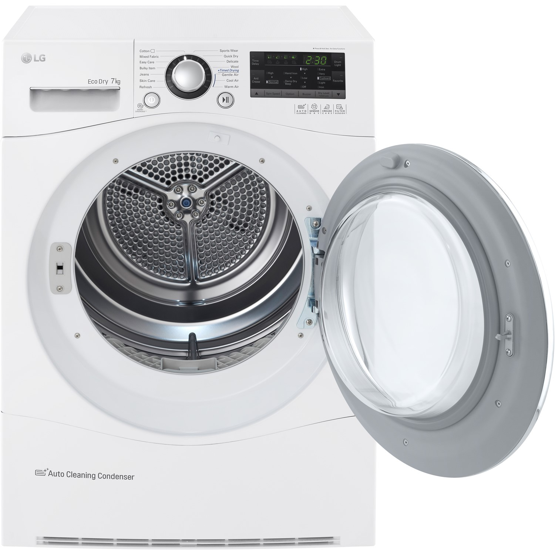 LG RC7055AH2M 7kg Freestanding Heat Pump Tumble Dryer - White