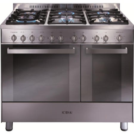 CDA RC9322SS 90cm Wide Double Oven Gas Range Cooker Stainless Steel