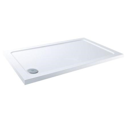 Claristone White Shower Tray & Corner Waste - 1200 x 760mm