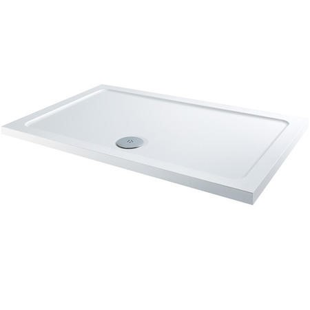 Claristone White Shower Tray & Waste - 1400 x 800mm