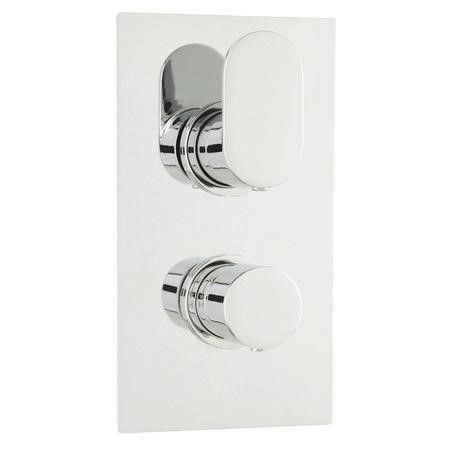 Round Twin Thermostatic Shower Valve