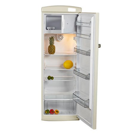 Nordmende RET341CAPLUS 61cm Wide Retro Style Freestanding Fridge - Cream