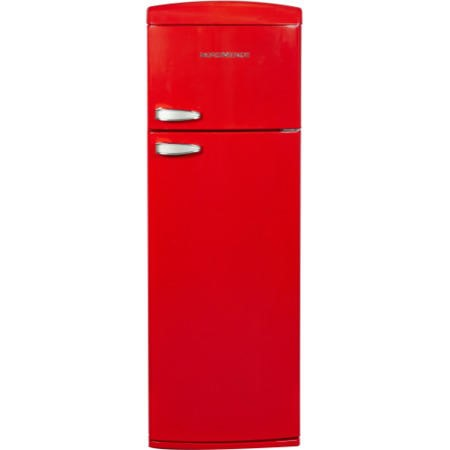 NordMende RET345R Retro Top Mount Freestanding Fridge Freezer Red