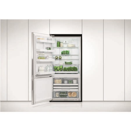 Fisher & Paykel RF522BLPX6 25232 - 79cm Wide Left Hand Hinge Handleless Freestanding Fridge Freezer Stainless Steel