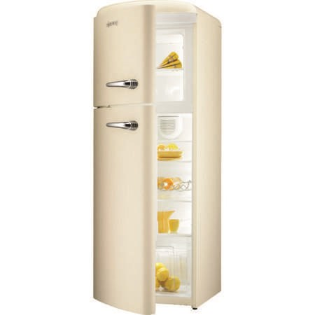 Gorenje RF60309OC-L Retro Style Left Hand Hinge Top Mount Freestanding Fridge Freezer Cream