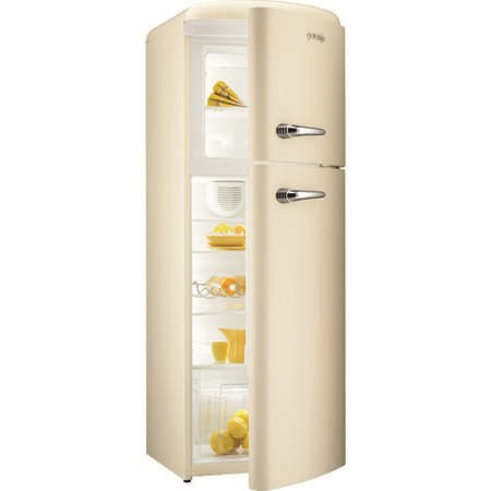 Gorenje RF60309OC Retro Style Right Hand Hinge Top Mount Freestanding Fridge Freezer Cream