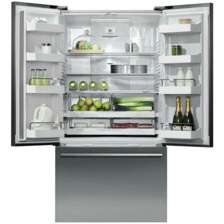 Fisher & Paykel RF610ADX4 25211 French Door-style Freestanding American Fridge Freezer - EZKLeen Stainless Steel