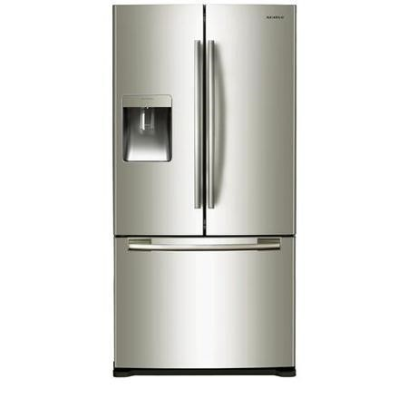 samsung rf62qepn 82 cm wide side by side fridge freezer in platinum inox appliances direct