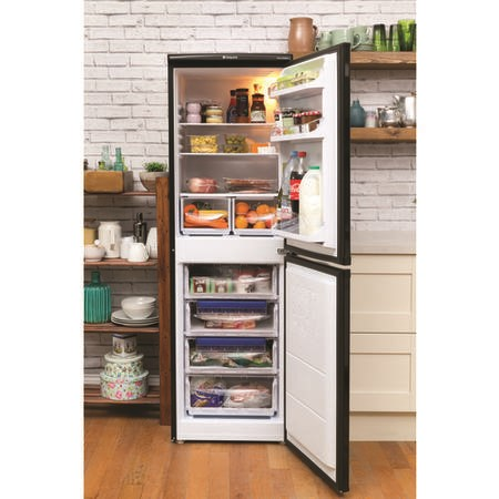 Hotpoint RFAA52K Ice Diamond Freestanding Fridge Freezer Shiny Black
