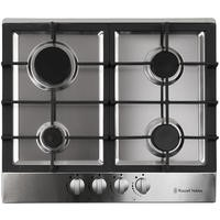 Russell Hobbs RH60GH402SS Stainless Steel 59cm Wide 4 Burner Gas Hob