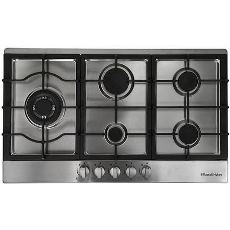 Russell Hobbs RH86GH701SS Stainless Steel 86cm Wide 5 Burner Gas Hob