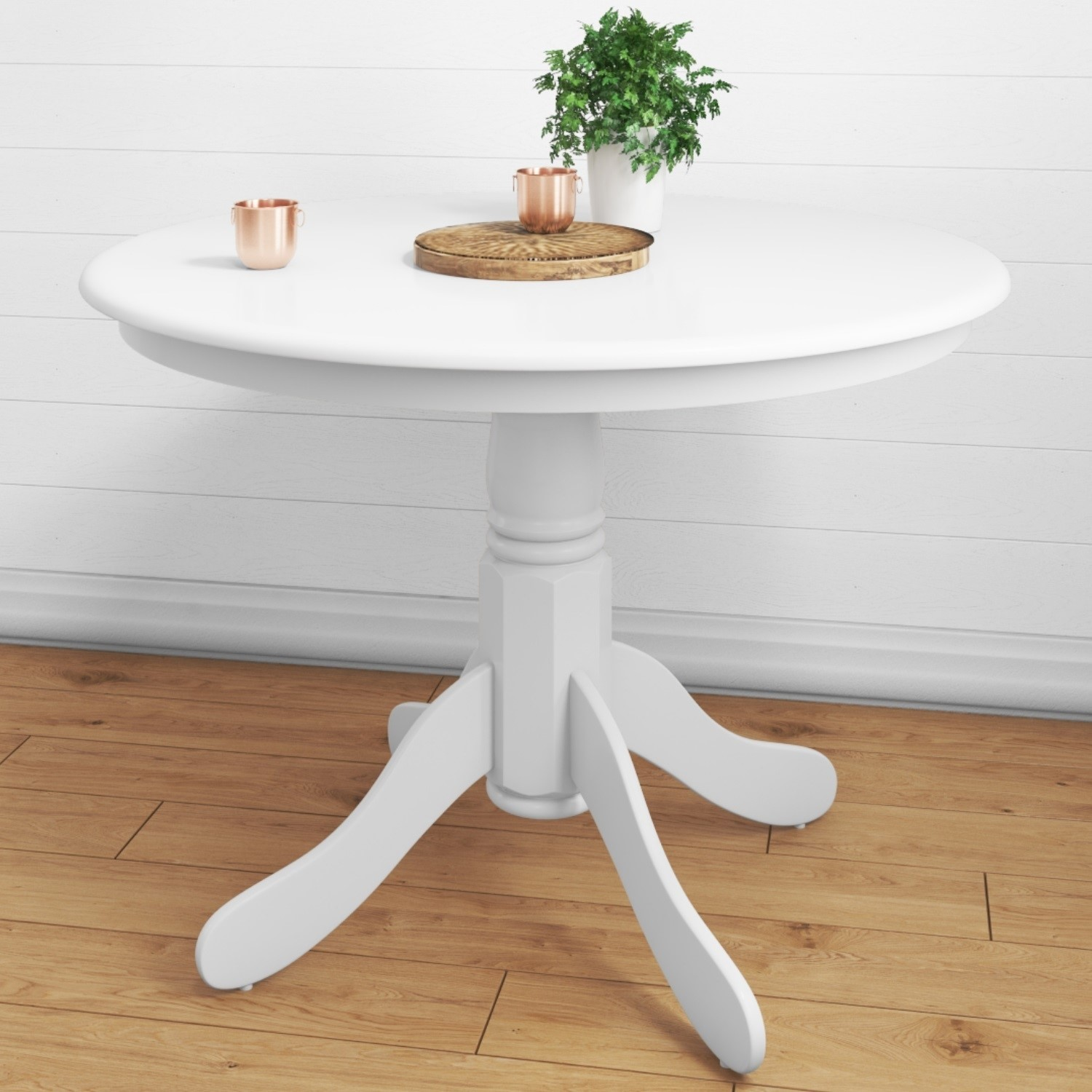 Details about Rhode Island White Round Pedestal Dining Table - 4 Seater  RHD010