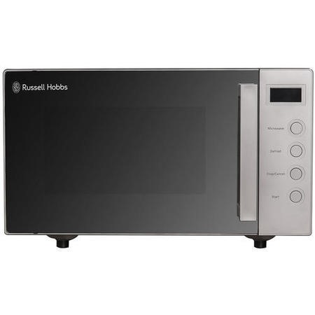 Russell Hobbs RHEM1901S 19L 700W Freestanding Compact Flatbed Digital Microwave in Silver