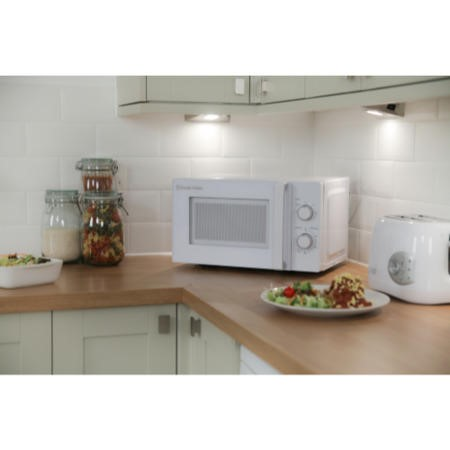 Russell Hobbs RHM2077 20L 800W Freestanding Manual Microwave in White