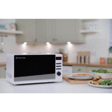 Russell Hobbs RHM2079A 20L 800W Aura Freestanding Digital Microwave in White