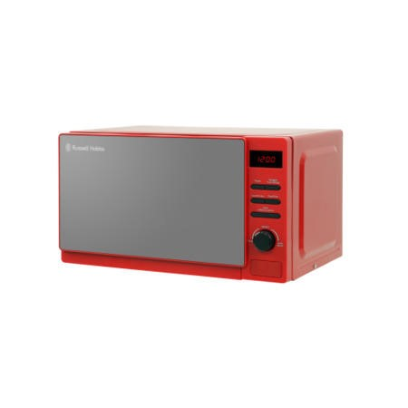 Russell Hobbs RHM2079RSO 20L 800W Freestanding Digital Microwave in Rosso Red