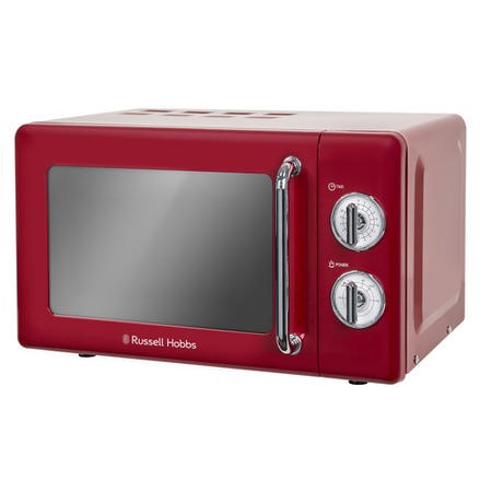 Russell Hobbs RHRETMM705R 17L 700W Retro Design Freestanding Microwave in Red