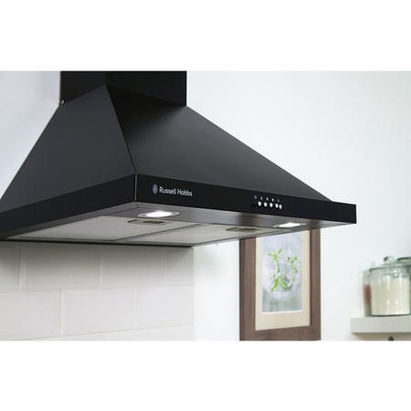 Russell Hobbs RHSCH601B 60cm Wide Black Chimney Cooker Hood