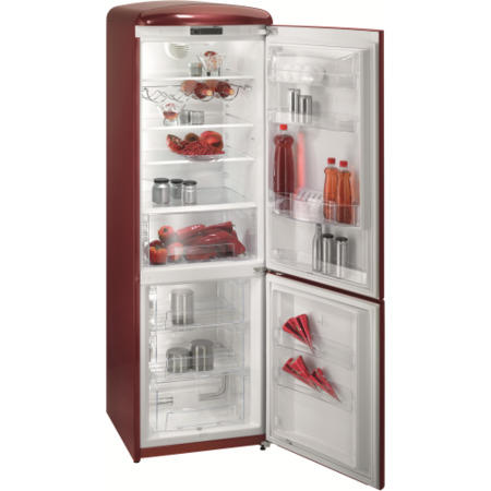gorenje rk60359or retro style freestanding fridge freezer right hand hinge burgundy appliances. Black Bedroom Furniture Sets. Home Design Ideas