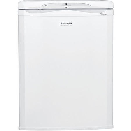 HOTPOINT RLA36P 150 Litre Freestanding Under Counter Larder Fridge 85cm Tall Antibacterial Lining 60cm Wide - White