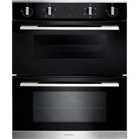 Rangemaster RMB7245BLSS 5 Function Electric Built Under Double Oven - Black