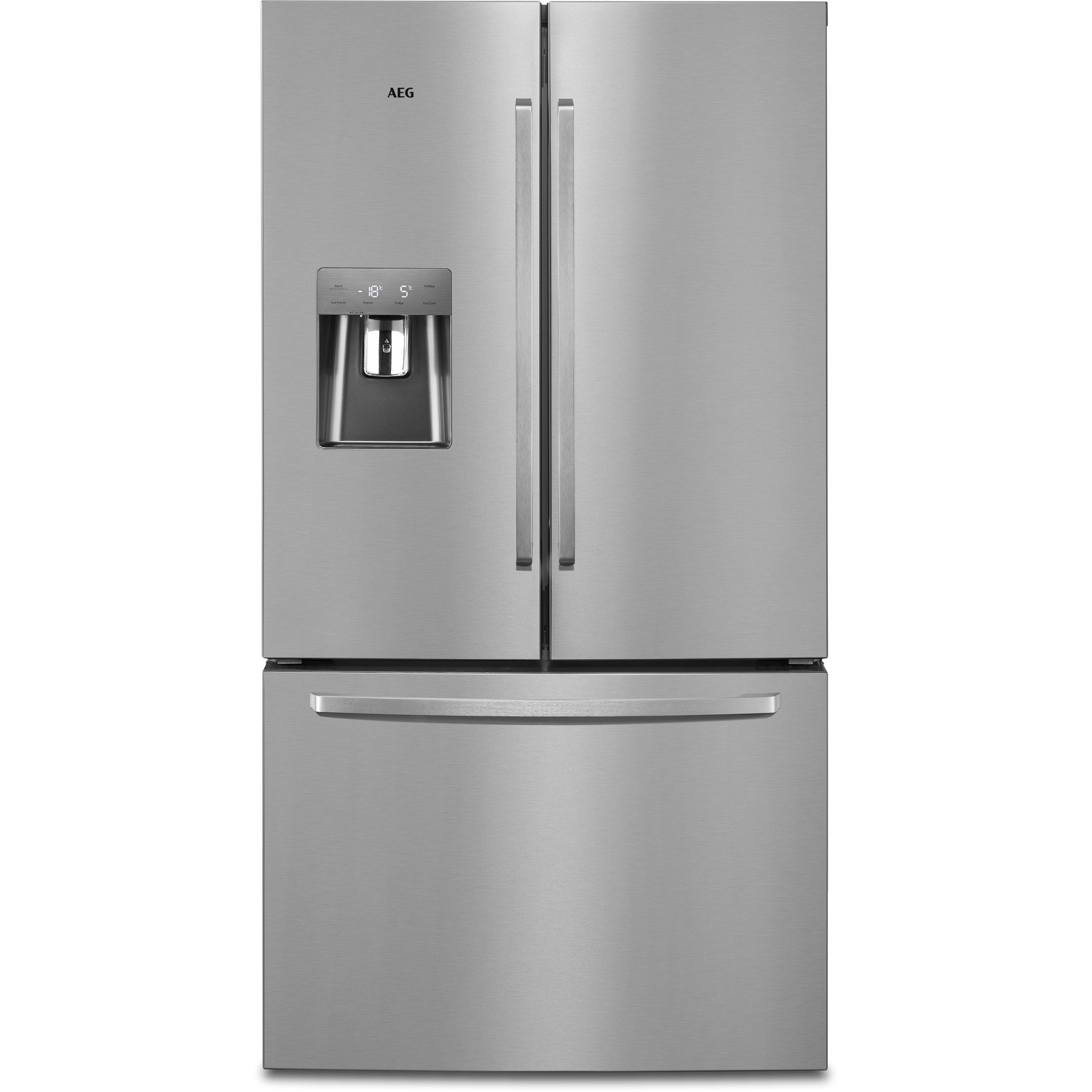 Awesome American Fridge Freezer With Drawers Part - 4: AEG RMB76311NX French Door And Drawer American Fridge Freezer Silver With  Antifingerprint Stainless Steel Doors