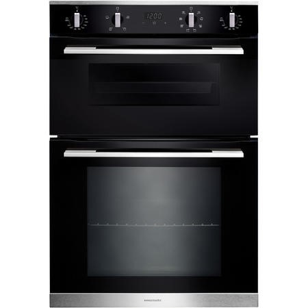 GRADE A1 - Rangemaster RMB9048BLSS Electric Built In Double Oven - Black