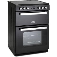 Montpellier RMC61CK 60cm Double Oven Electric Mini Range Cooker - Black Best Price, Cheapest Prices