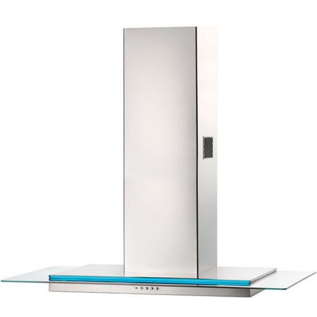 Rangemaster 100cm Chimney Cooker Hood Stainless Steel And Glass