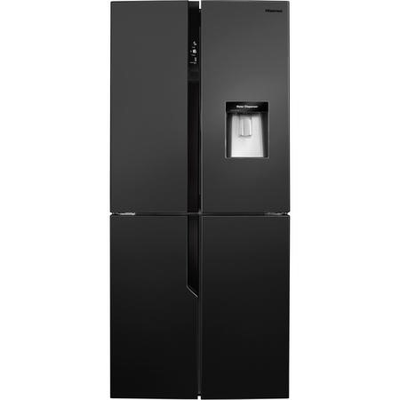 GRADE A2 - Hisense RQ560N4WB1 Four Door American Fridge Freezer With Non Plumbed Water Dispenser - Black