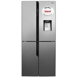 Hisense RQ560N4WC1 Four Door American Fridge Freezer With Non Plumbed Water Dispenser Stainless Steel Look