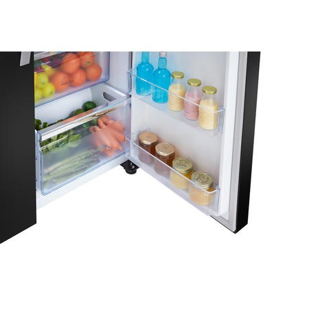 Hisense RS696N4IB1 Side By Side American Fridge Freezer With Ice and Water Dispenser Black