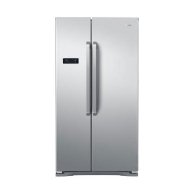 GRADE A3 - Hisense RS731N4AC1 Side-by-side American Fridge Freezer Stainless Steel Effect