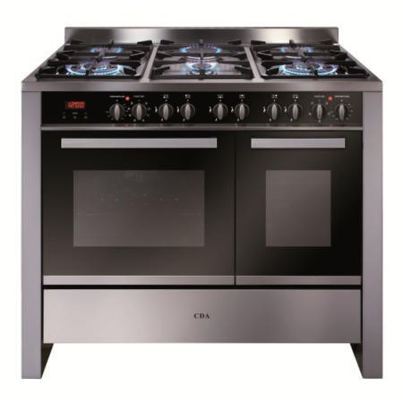 GRADE A2 - CDA RV1002SS 100cm Wide Double Oven Dual Fuel Range Cooker - Stainless Steel